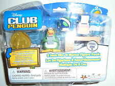 "New Disney Club Penguin 2"" Mix & Match Figure With Coins And Work Desk."