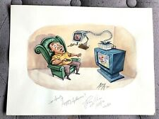 VINTAGE ORIGINAL COLOR ILLUSTRATION BY RAY ALAN PEOPLE METER 07/09/2004