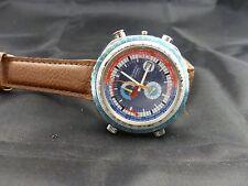 1970s Very Rare Vintage Tegrov by Sorna by Breitling Chrono GMT world timer mod.