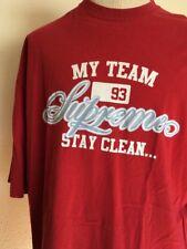 VTG 2000's ~ BADBOY SUPREME T SHIRT ~ My Team Stay Clean 2XL ~ Hip Hop/ Street