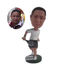 Personalized Male Tennis Player Bobble Head Sports Figurine