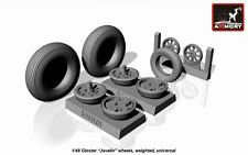 Armory Models 1/48 GLOSTER JAVELIN WEIGHTED WHEEL SET Resin Set
