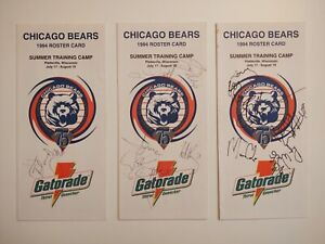 1994 Chicago Bears Training Camp Roster Cards AUTOGRAPHED Jim Flanigan NFL