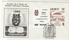 mexico 1986 50th anniv. of ipc  stamps cover ref 20294