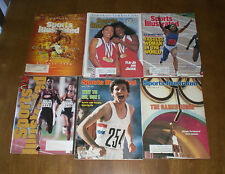 6 OLYMPIC TRACK & FIELD 1980's & 1996 SPORTS ILLUSTRATED JOYNER COE LEWIS