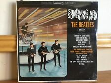 THE BEATLES SOMETHING NEW STEREO SEALED RECORD CLUB ISSUE #16 ON BACK GORGEOUS!