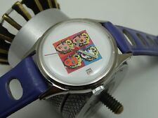OLD SWISS WATCH REFINISHED ANDY WARHOL MARILYN MONROE DIAL