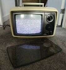 Vintage 70s SANYO CTP 1101 Solid State Analogue TV - Snow Picture and Sound