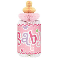BABY SHOWER Polka Dots Pink BOTTLE HONEYCOMB DECORATION ~ Party Supplies Girl