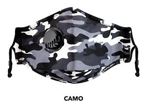 SUPALABS Hero Face Mask Premium Covering 5 layers of protection + valve - Camo