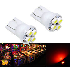 50x #555 T10 4SMD LED Pinball Machine Light Bulb Red 6.3V P2