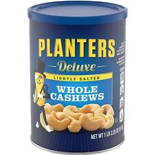 Planters Deluxe Lightly Salted Whole Cashews, 18.25 Oz. Resealable Canister