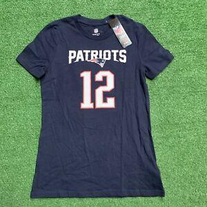 New England Patriots Tom Brady T Shirt Girls Size XL Blue