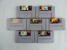 Super Nintendo 7 Game Lot Michael Jordan WWF Beavis Butthead Wings 2 Pac-Attack