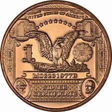 1 oz Copper Round - Black Eagle Note