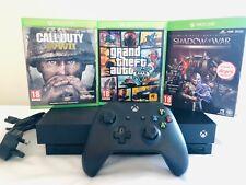 Microsoft Xbox One X 1TB Black Console + controller+3 games