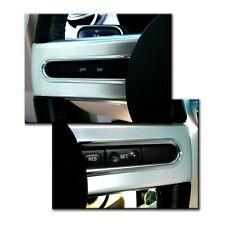2005-2009 Mustang Chrome Billet Aluminum Steering Button Highlights - Pair