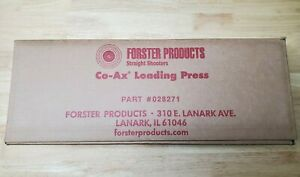 Forster CO-AX  Single Stage Reloading Press 028271 Brand New