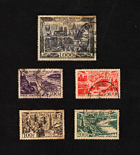 Set of 5 France Stamp 1950 Cityscapes Paris Lille Bordeaux Lyon Marseille 1000f