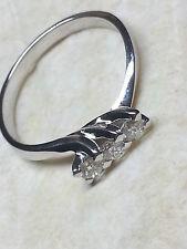 Anello Oro Bianco 18 kt Trilogy Diamanti 0,45 Carati f color vvs2 Promessa