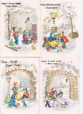 BUON ANNO NATALE CHRISTMAS 50s Saemec italy lot 4 postcards - 4 cartoline lotto