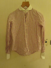 Pink Purple & White Stripe Shirt in Size 12