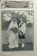 1912 TIMES of INDIA ~ THE WICKS- DU CANE SMYTHE WEDDING AT BAREILLY SEAFORTH