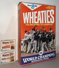 1987 MN Twins World Series Commemerative Wheaties Box
