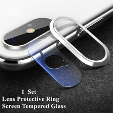 For iPhone X XS Max XR 8 7 Rear Camera Lens Protector Film Metal Protective Ring