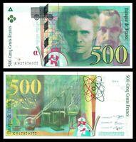 1994 France 500 Francs P-160 Pierre & Marie Curie Pre Euro * Banknote