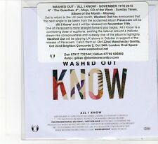 (FB724) Washed Out, All I Know - 2013 DJ CD