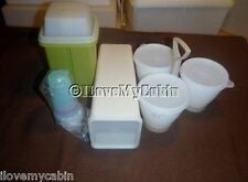 Lot VTG Tupperware Pickle Keeper Cheese Keeper Midgets Condiment Server Some New