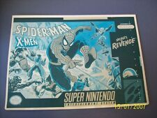 Spider-Man X-Men Arcades Revenge SNES 16 Bit Super Nintendo Vidpro Card