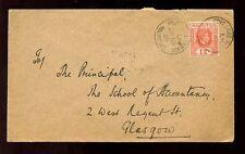 RAILWAY MAURITIUS 1938 KG6 12c SOLO to SCOTLAND