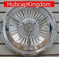 """NEW 15"""" POLARA JET Style 3-Bar Custom Spinner Hubcaps Wheelcover"""