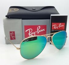 Ray-Ban Sunglasses RB 3025 Large Metal 112/19 62-14 Gold Aviator w/ Green Mirror