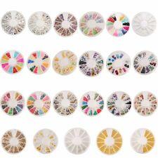 Brillantini Strass Adesivi Unghie Decorazione Sticker 3D Nail Art Beads Decal