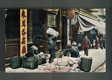 1919 San Francisco Usa Chinatown Rppc Postcard cover to France Market Scene