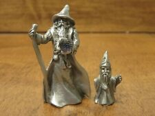 Set of 2 Pewter Wizards