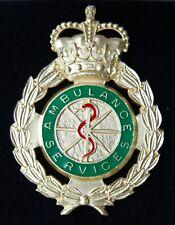 More details for solid silver ambulance service crown cap  badge ltd ed
