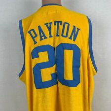 Reebok Gary Payton Los Angeles Lakers Velour Jersey NBA Hardwood Sewn Size XL