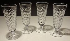 4 RARE VINTAGE WATERFORD PARFAIT DESSERT GLASSES ~ CHEVRON PATTERN