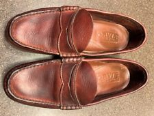 Orvis Gokey Mens Lug Sole Loafer Moccasin Slip On Leather Shoes 10 D
