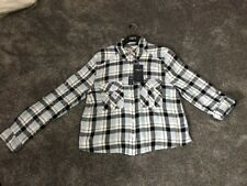 BNWT M&S Ladies Collection Blue Long Sleeve Check Shirt Size 14 Free P&p