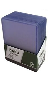"Card Concept - Regular Toploader (3"" x 4"") (Clear) - Sealed Pack of 25"