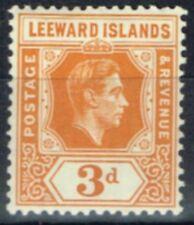 Lightly Hinged George VI (1936-1952) Leeward Islands Stamps