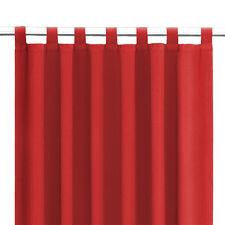 Schlaufenschal Gardine Dekoschal Fensterschal extrem blickdicht Kapstadt rot
