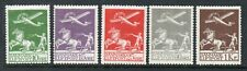 Denmark 1929 First Airmail Complete collection of 5.MLH.Very fine.