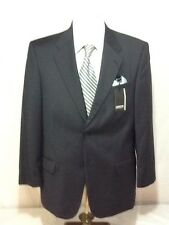 Mens CLAIBORNE blue 2 button windowpane sport coat sz 42S