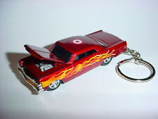 NEW 3D 1964 CHEVROLET IMPALA CUSTOM KEYCHAIN keyring key 64 flames TARGET